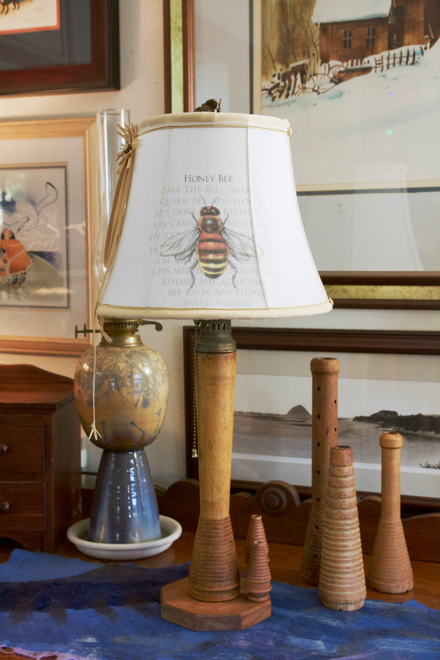 Custom Lampshades By Kathleen Mccarthy Bee Lamp